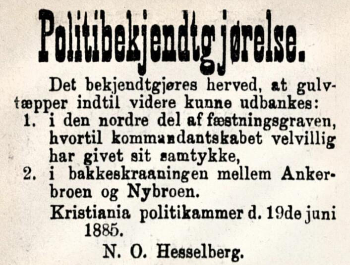 Aftenposten, 1885