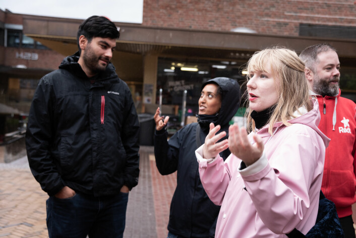 – Vi mener det må skjæres gjennom, og byrådet må sette penger på bordet og få folk i blokka, sier Kathy Joakimsen, førstekandidat for Rødt i Gamle Oslo. Foto: Bjørnar Morønning