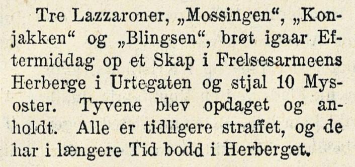 Mysosttyveri. Middagsavisen, 1925