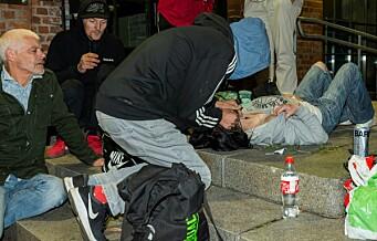 Stortingets Petter Eide ble med Foreningen for en Human Narkotikapolitikk på en tur blant byens svakeste