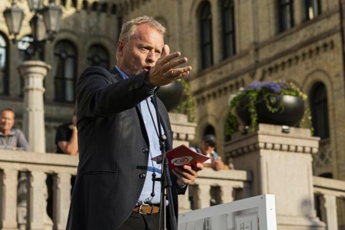 Raymond Johansen: – Vi skal ikke ha et samfunn som sier oss og dem. Foto: Morten Lauveng Jørgensen