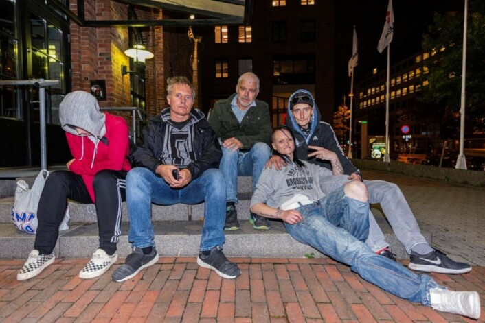Når vi andre sier Cheese for å se happy ut på bildet, sier de rusavhengige på gata i Oslo, heroiiiiiiiin. Foto: Morten Lauveng Jørgensen