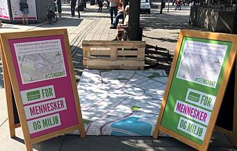 Miljøpartiet: Har ingen valgbod på Karl Johan. – Vil de ikke snakke med folk?