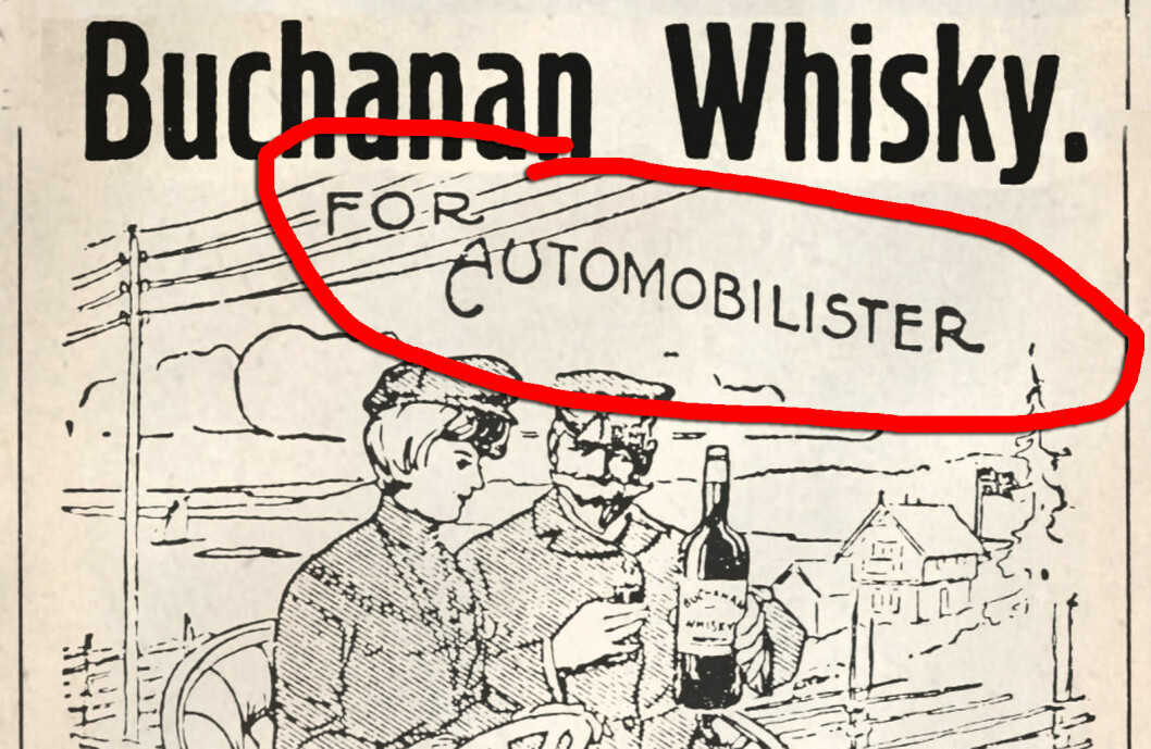 Buchanan whisky for automobilister.