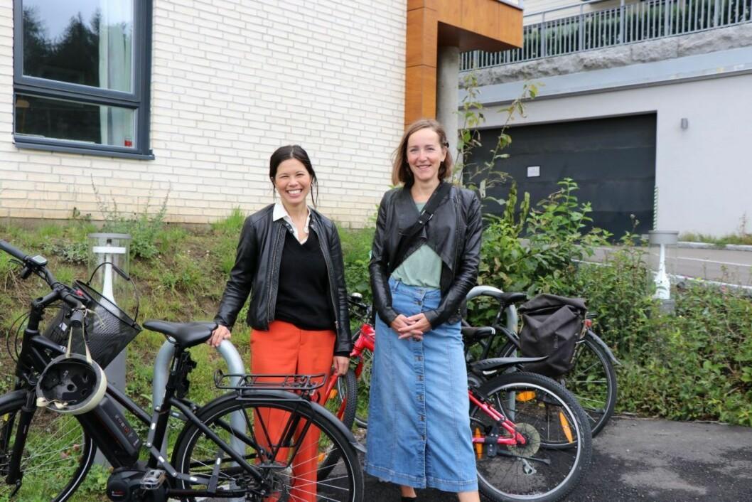 Årvolltoppen boligsameie ønsker nå å søke på kommunal støtte til innendørs sykkelstativer. Foto: Klimaetaten