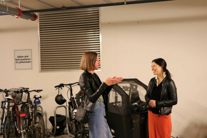 I denne garasjen har sameiet lyst til å etablere toetasjers sykkelstativer. Foto: Klimaetaten