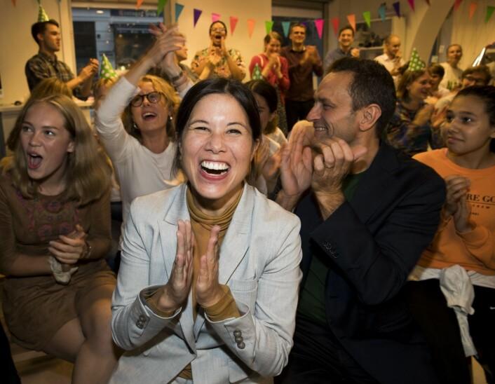 Oslos miljøbyråd Lan Marie Berg har vært høyt og lavt i valgkampen. Og MDG-toppen fenger ungdom i Oslo.<br />Foto: Terje Pedersen / NTB scanpix