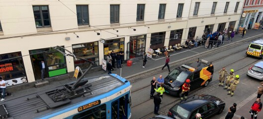 Trikk kolliderte med lastebil i Thorvald Meyers gate