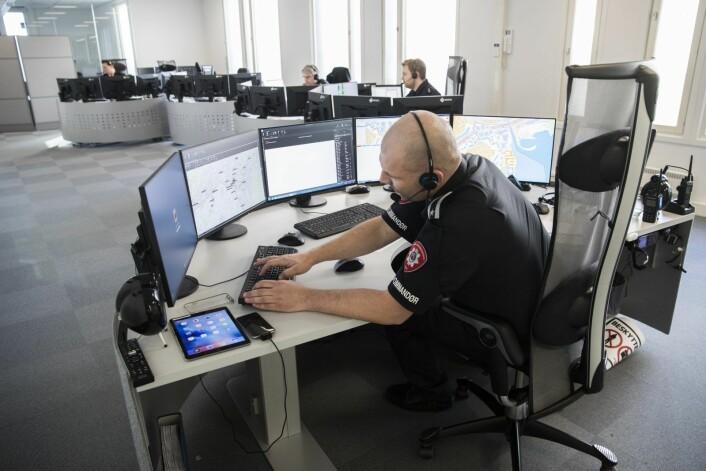 Brannvesenet i Oslo får stadig flere telefoner fra beboere som rammes av styrtregn og flom. Foto: Håkon Mosvold Larsen / NTB scanpix