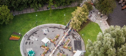 Langbord-rekord i Vaterlandsparken da over 200 mennesker kom på høsttakkefest