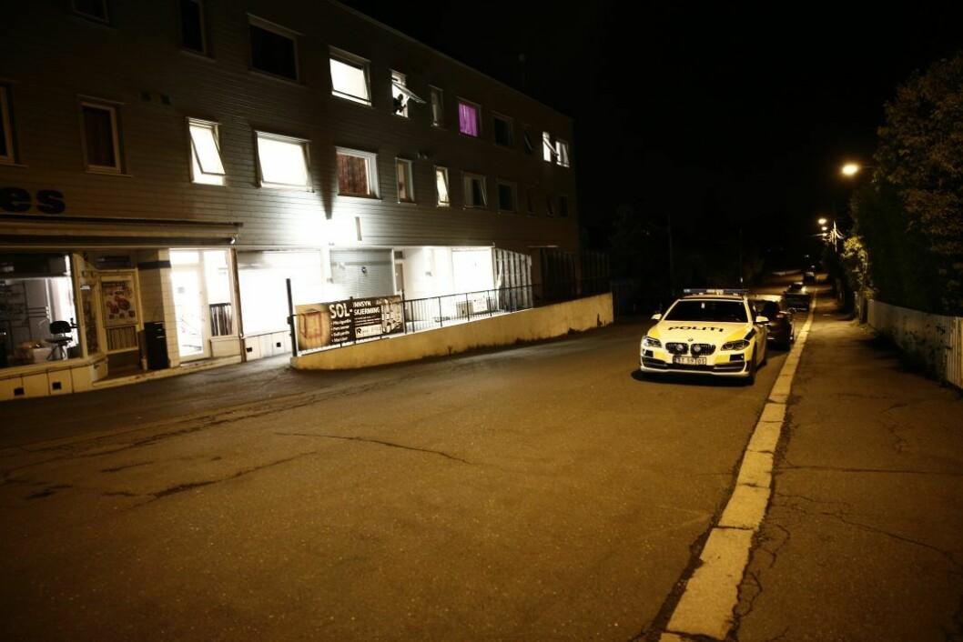 Natt til 19. august i fjor ble en livløs kvinne funnet utenfor et butikklokale i Kapellveien. Men selve drapet skal ha skjedd i nærliggende Kjelsåsveien. Foto: Stian Lysberg Solum / NTB scanpix