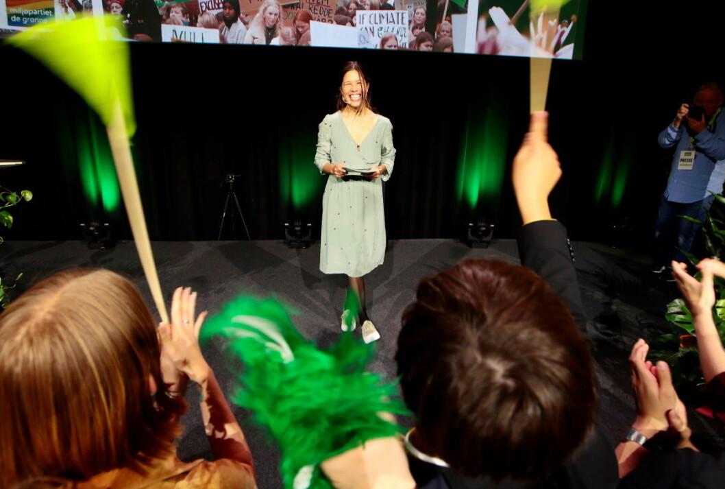 Byråd for miljø og samferdsel Lan Marie Nguyen Berg (MDG) er strålende fornøyd med opslultningen fra velgerne i Oslo under årets valg. Foto: Håkon Mosvold Larsen / NTB scanpix Foto: H??kon Mosvold Larsen / NTB scanpix
