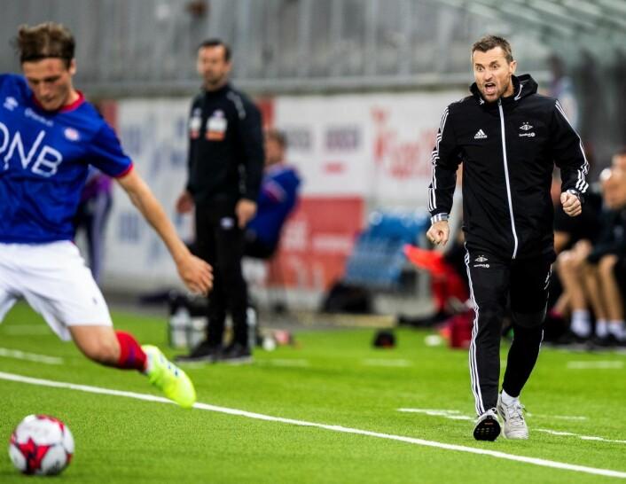 RBK-trener Eirik Horneland beklaget albueslaget mot VIFs Sam Adekugbe etter 1-1 oppgjøret på Intility stadion. Foto: Berit Roald / NTB scanpix