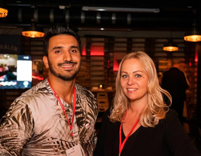 Oslo Rødt-leder Siavash Mobasheri og gruppeleder Eivor Evenrud vil stille harde krav i boligpolitikken i byen. Foto: Erik Holland Haukebø