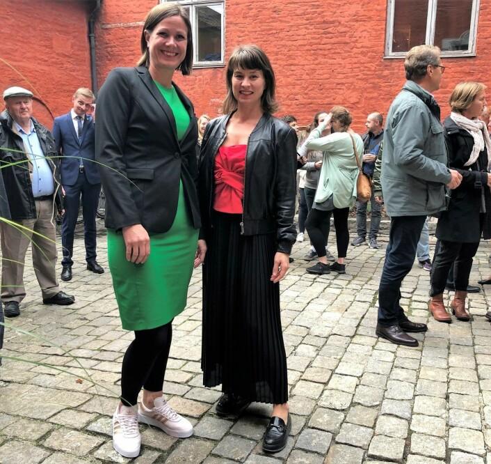 Byråd for byutvikling, Hanna E. Marcussen (MDG), og kulturbyråd Rina Mariann Hansen (Ap) mener det er viktig å verne om Oslos rik kulturarv. Foto: Beate Svenningsen