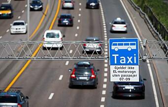 Bussjåførene vil ha elbilene ut av kollektivfeltet i Oslo