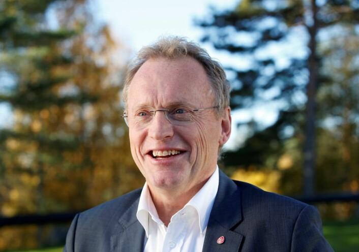 En svært fornøyd Raymond Johansen etter at de rødgrønne partiene Ap, SV og MDG var blitt enige om byrådserklæring i 2015. Foto: Vidar Ruud / NTB scanpix