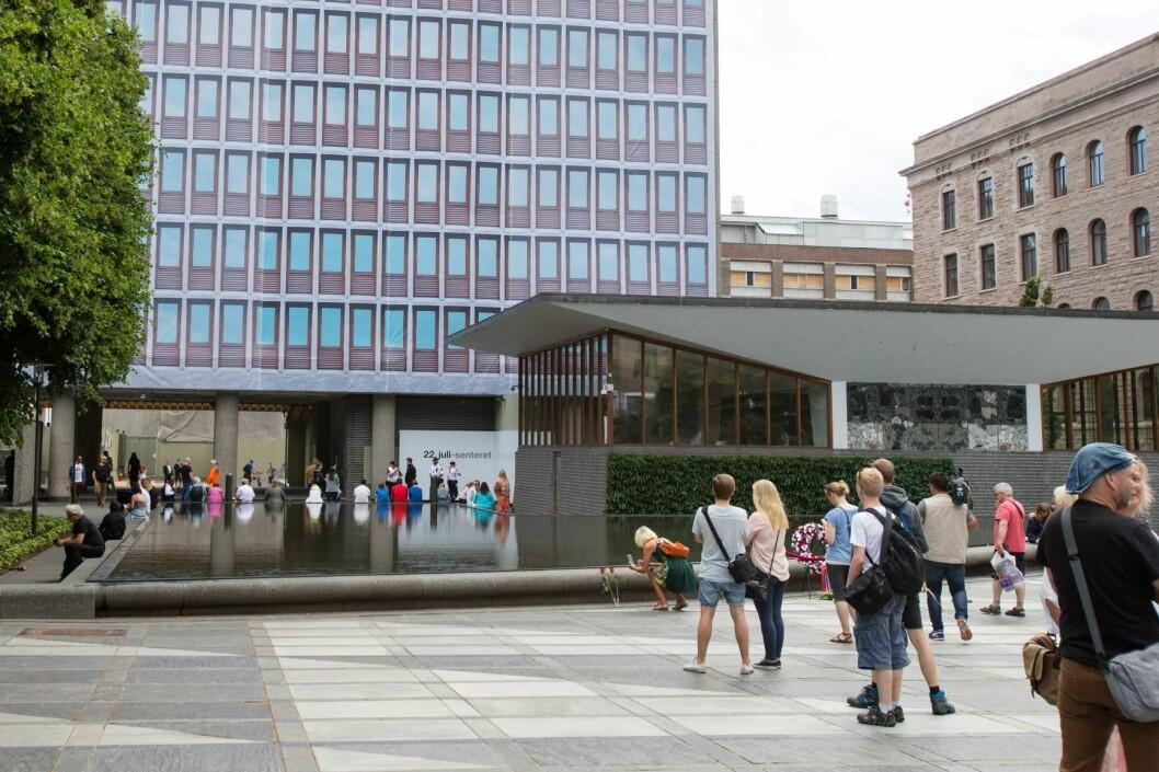Det blir sannsynligvis 22. juli-senter, ikke statsministerkontor, i Høyblokka. Foto: Audun Braastad / NTB scanpix