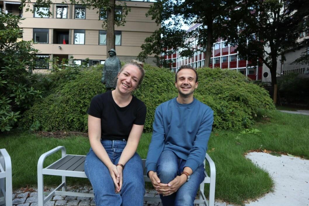 Fagkonsulentene Christian Ydse og Ida Mørk Alviniussen jobber begge med Aktiv hverdag, et aktivitetstilbud for yngre med demens som drives av bydelene Ullern og Frogner. Foto: Stine Grøndahl
