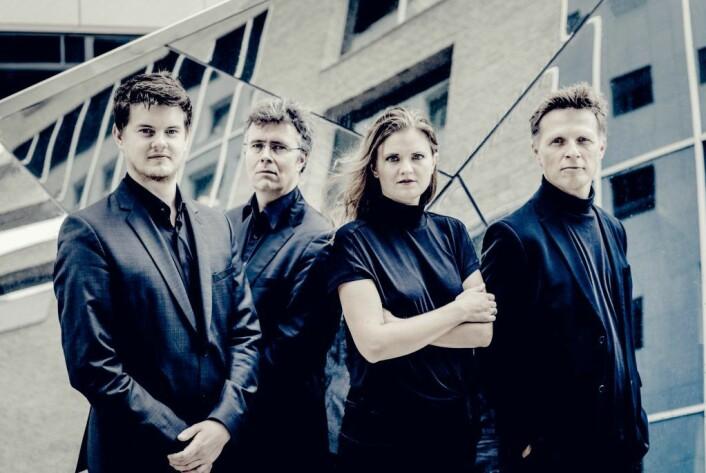 Oslo strykekvartett spiller sammen med Solveig Slettahjell på Kammermusikkuka. Foto: Andrej Grilc