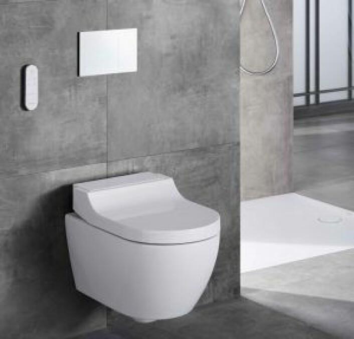 SMITTEKILDER: Ved å velge berøringsfritt der du kan, som over toalettet, kan du eliminere noen viktige smittekilder. Foto: Geberit
