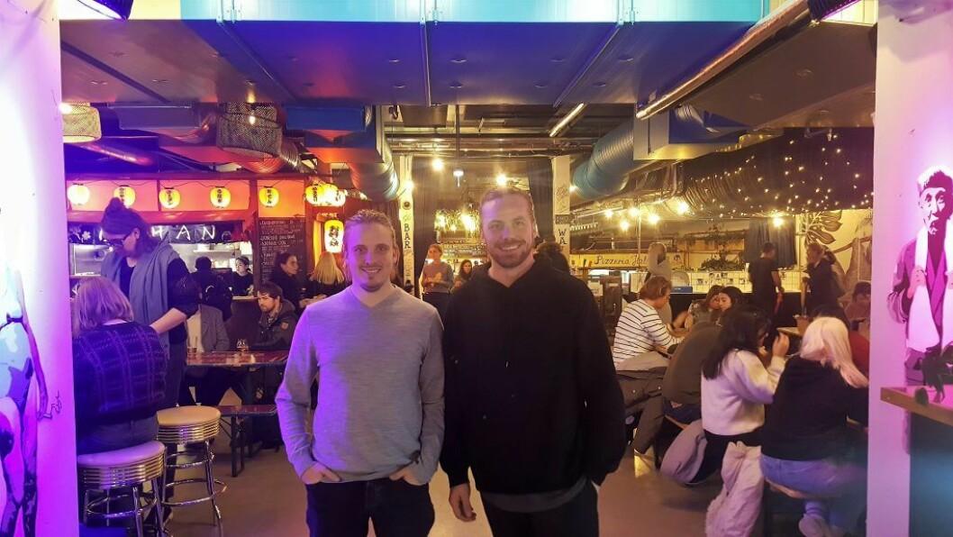 Oslo Street Food-gründere Wilhelm Larsen (t.v.) og Christian Grosvold.