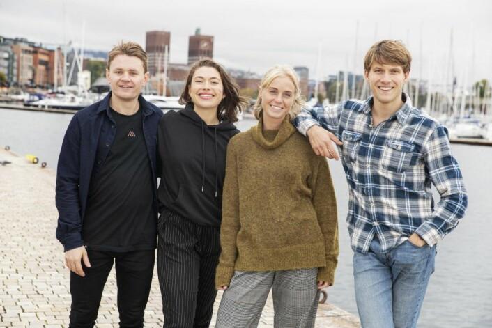 Oslos fire klimapiloter – (fra venstre): Ole Erik Lunder, Emilie Hernes Vereide, Ingrid Holtan Søbstad og Hauk Are Fjeld. Foto: Klimaetaten