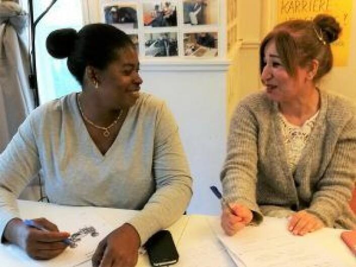 Erisa fra Uganda og Clementina fra Nigeria. Foto: Privat
