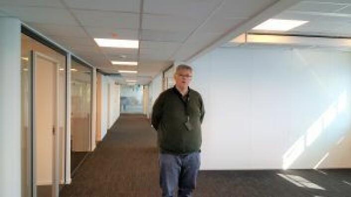 Kontorlokaler, møterom og sosiale soner her i sjette etasje i Drammensveien 60 testes ut denne uken.