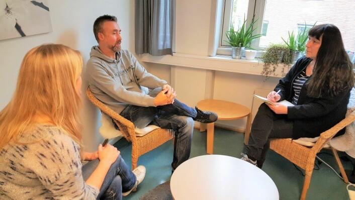 Gruppesamtale hos familieteamet på Grünerløkka. Foto: Tarjei Olsen