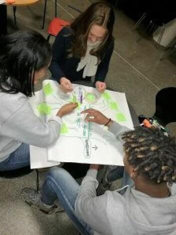 Ungdommene jobbet med forskjellige øvelser og prosjekter. Foto: Sara Kløverød Adolphson