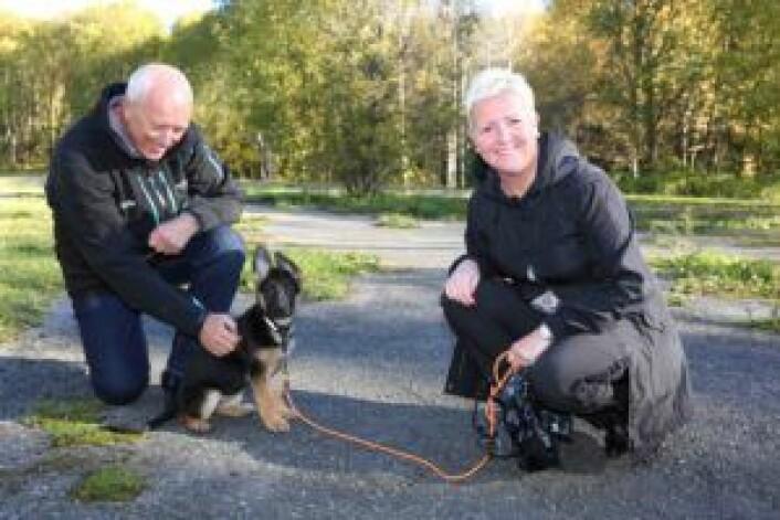 Fra hunderusken, med ruskengeneral Hauger til venstre.