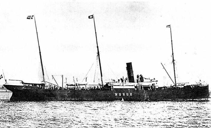 Dampskipet Norge forliste ved Rockall 28. juni 1904. Foto: Digitalarkivet/UIB