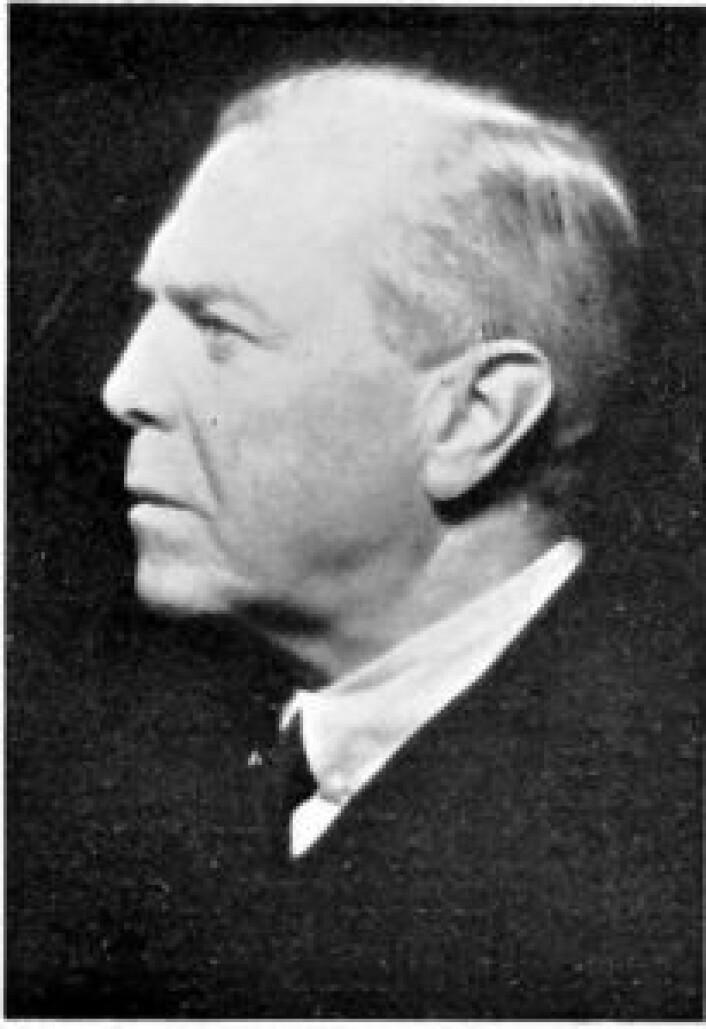 Amerikalinjens første direktør var Gustav Severin Henriksen, her i1934. Foto: Ukjent / Wikimedia Commons