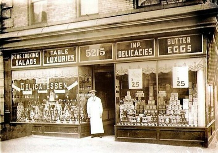 Leske's bakery på Lapskaus Boulevard. Foto: Scandinavian Museum