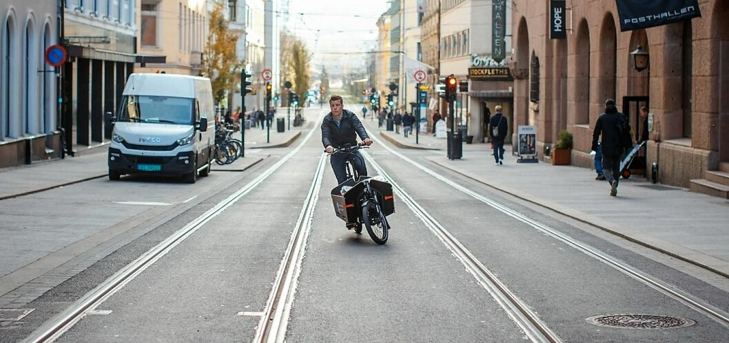 El-lastesykkel. Foto: Klimaetaten
