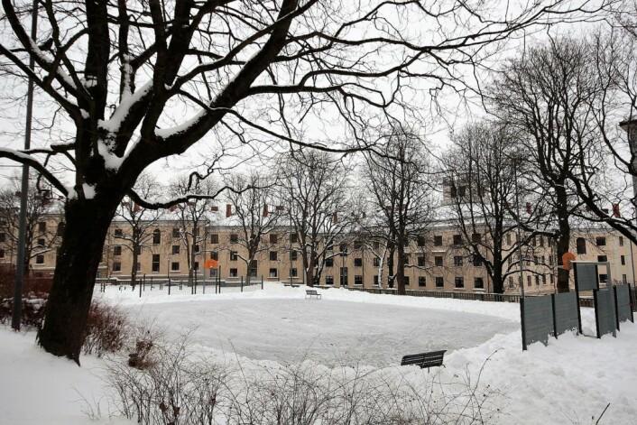 Skøytebanen på Evald Ryghs plass, 4. februar.