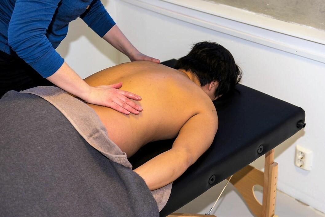 Hos Ekebergveien 11 kan du få massasje både som behandlingsverktøy og for velvære. Foto: Morten Lauveng Jørgensen