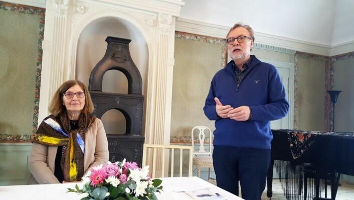 Bydelsdirektør Odd Rune Andersen taler i Frogner Hovedgård.