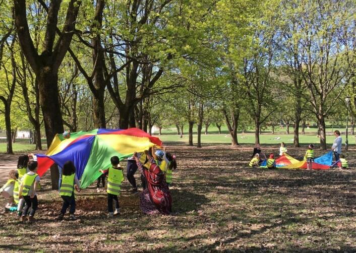 Fra Verdens aktivitetsdag i Frognerparken i fjor. På lørdag blir det masse å finne på for de små i Frogner stadion. Foto: Bydel Frogner