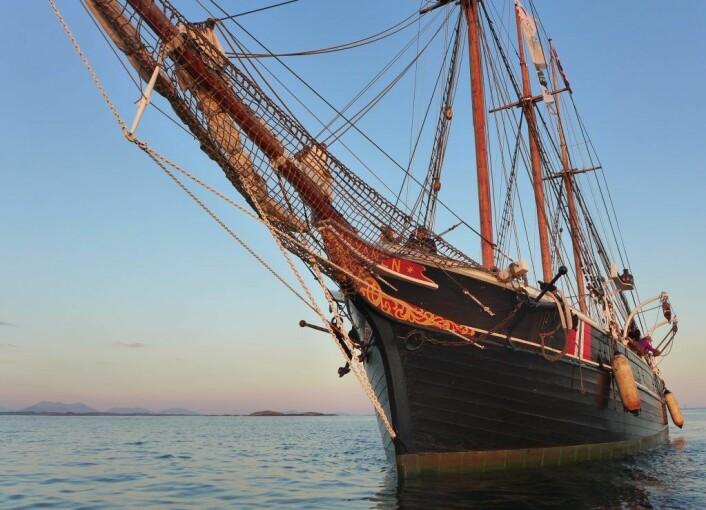 Den vakre skonnerten Svanen til sjøs, sommeren 2018. Foto: Norsk Maritimt Museum