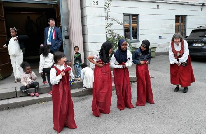 Uranienborg menighets språkkafe på 17. mai. Foto: Uranienborg menighet