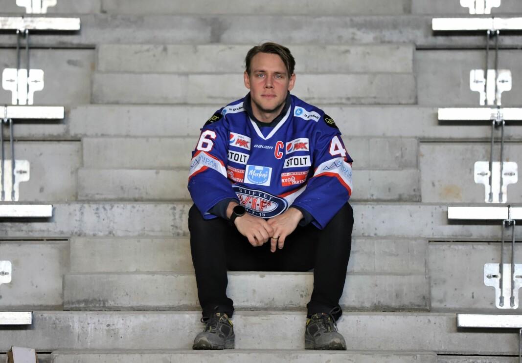 Vålerenga ishockeys kaptein på plass mellom seteradene i nye Jordal Amfi
