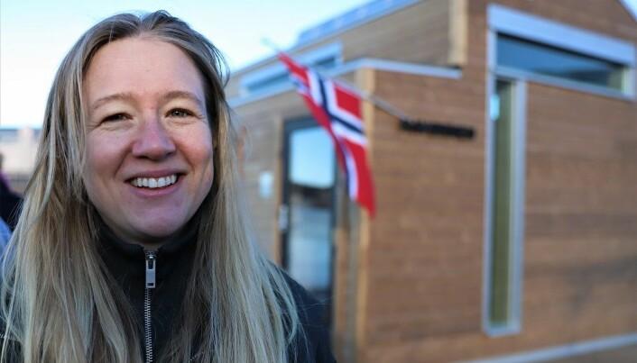 Ragna Marie Fjeld, fra Oslo badstuforening, er svært fornøyd med det nye anlegget.