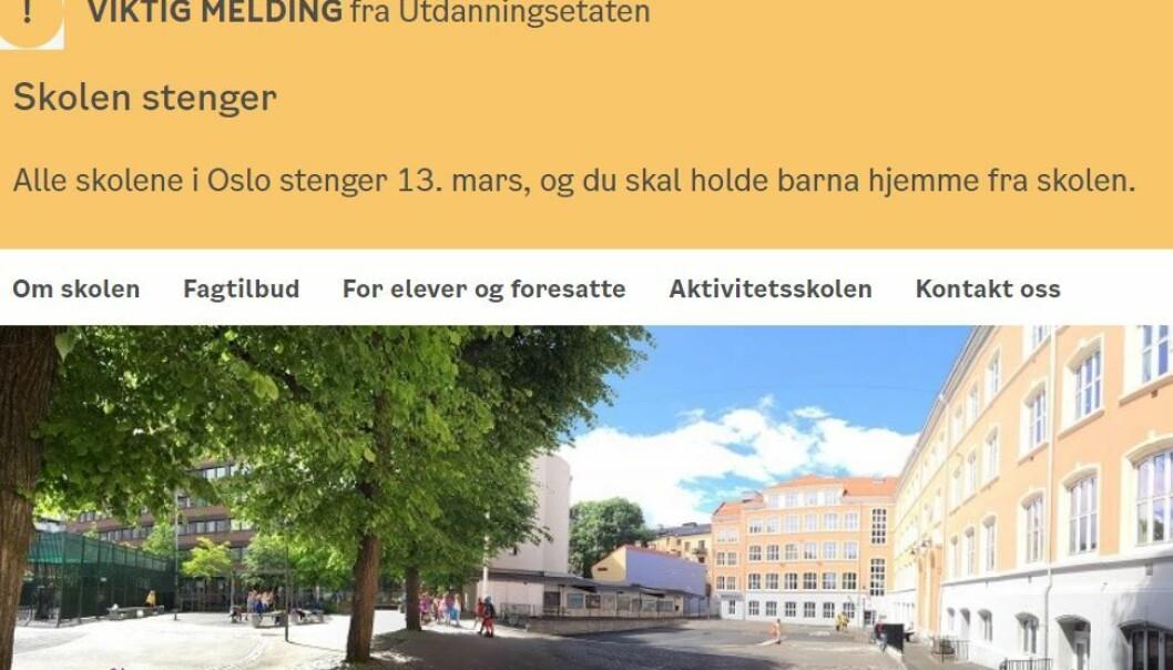 – For våre foreldre vil dette bli en kjempeutfordring. De har liten plass hjemme, mange barn og lite penger. Skolestenging rammer dem voldsomt, sier rektor Hilmar Berge Flatabø.