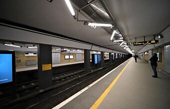 T-banen i Oslo tar koronagrep for å hindre smitte