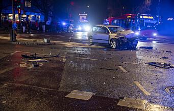 Tre til Ullevål etter trafikkulykke på ring 2 ved Ullevål sykehus