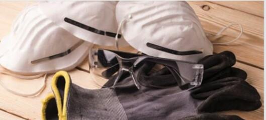 Rikshospitalet ønsker ikke flere støvmasker og vernebriller fra byggebransjen