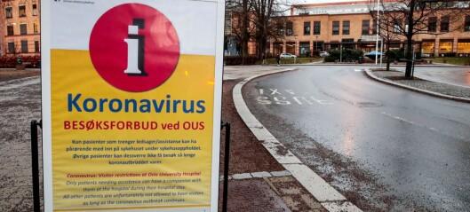 1.081 sykehusansatte i Oslo er i karantene