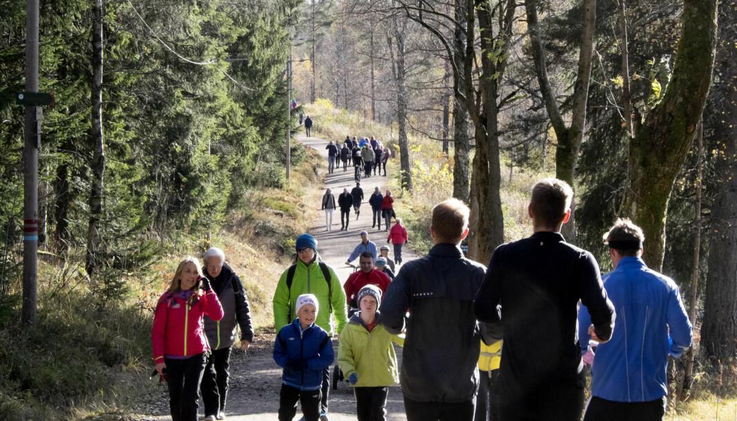 Flott helgevær kan benyttes til å gå en tur langs Sognsvann i Oslo.